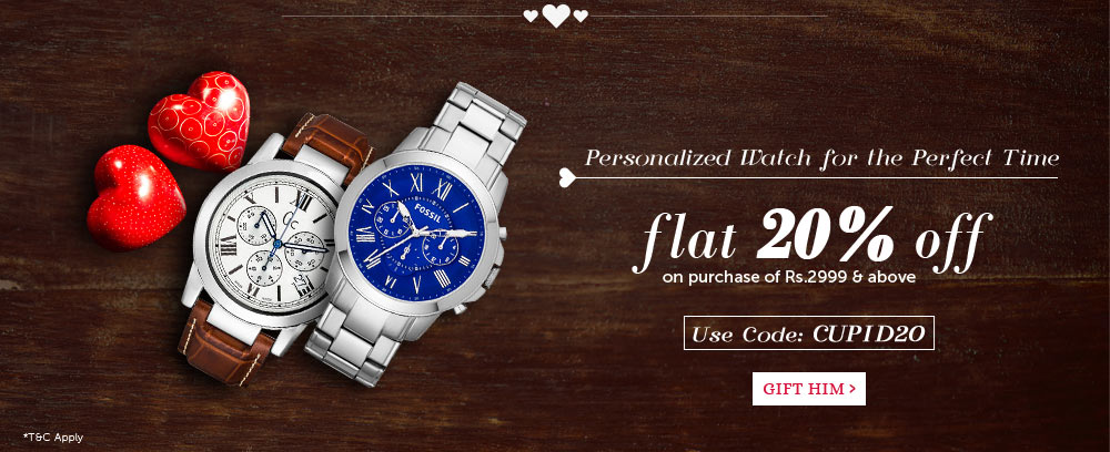 Personalized Watches - Flat 20% Off