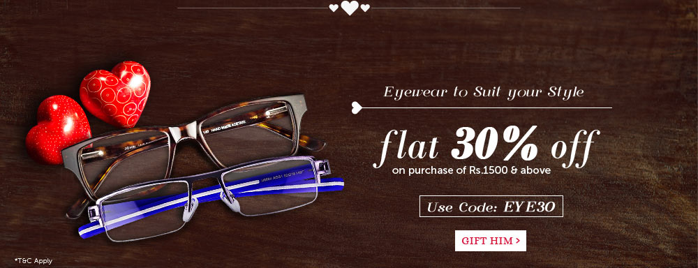 Eyeglasses - Flat 30% Off